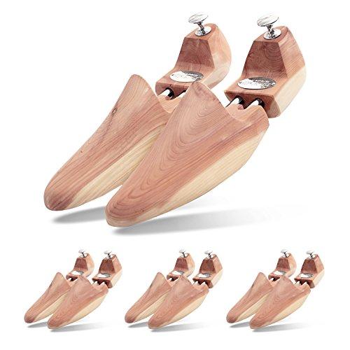 Schlesinger - Herren 4 Paar Reise-Schuhspanner aus edlem Zedernholz für eine optimale Schuhpflege unterwegs. Modell Prinz. Größe 41