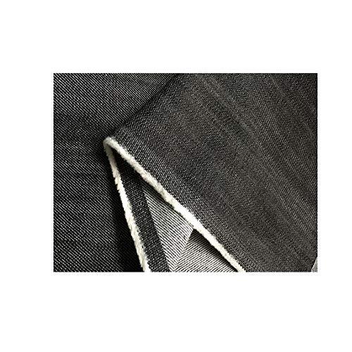Verdikte katoen gewassen stretch zwarte denim stof broek jas jurk kleding stof 150cm breed verkocht per meter