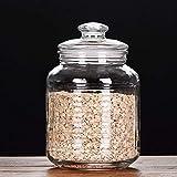 Botes para Alimentos Los tarros de cristal, tarro de cristal de almacenamiento de alimentos con sello hermético de la tapa, Borrar almacenamiento de alimentos for servir té, café, especias y Más Botes