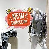kina CRNC0003 Etiqueta de la Ventana por Tiendas sin Pegamento reposicionable y Reutilizable a voluntad Nueva colección