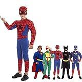 Disfraz Superhéroe Spider Niño Araña【Tallas Infantiles】[Talla 5-6 años] | Disfraces Niños Superhéroes con Capa Antifaz Cosplay Héroes para Carnaval Halloween Cumpleaños Fiesta Disfraces
