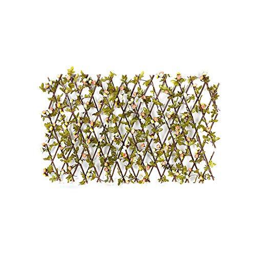 Clôture en Treillis en Expansion, Panneaux de clôture de Plantes de Jardin Artificiel avec Boutons de 2 Couleurs pour la décoration de la Maison d'arrière-Cour, Panneaux de Couverture artificiels