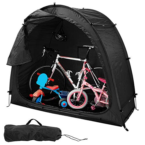 QZF Bicycle Storage Shed Portable Bike Tent with Carry Bag 190t Polyester Cloth Waterproof Easy Ventilation Fully Zipped Door Design Installation Easy for Outdoor Equipment Storage Waterproof Cover