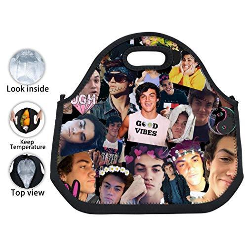 EELMOOR Lightweight Custom 3D Printing Do-LAN Tw-ins Cover Handbag Bento Bag/Lunch Box/Picnic Bag with Zip & Handle