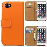 Roar Handytasche für Sony Xperia Z1 Compact, Flipcase Tasche Schutzhülle Handyhülle für Sony Xperia Z1 Compact Bookcase Wallet mit Magnet, Orange