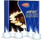 Best AGPtek Flameless Tea Lights - AGPtek 60 PCS Battery Operated No filcker Flameless Review
