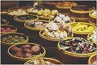 HD上海中国-さまざまな種類のアジアの伝統的な屋台の食べ物9024050(大人のためのプレミアム1000ピースジグソーパズル19x27)