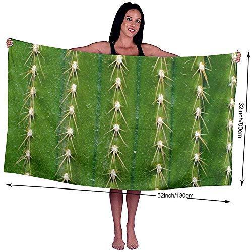 Yocmre badhanddoek Cactus doorn bedrukt microvezel strand/zwembad/badhanddoek voor Unisex 130 * 80cm (52x32 inch) Super zacht, zeer absorberend