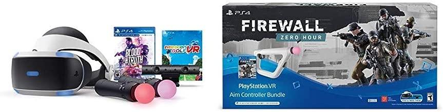PlayStation VR - Mega Blood + Truth Everybodys Golf Bundle Bundle with PSVR Aim Controller Firewall Zero Hour Bundle - PlayStation VR