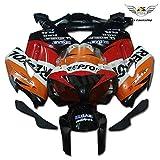 NT FAIRING carenado Kit para Honda 2004 2005 CBR1000RR CBR 1000 RR naranja Negro Repsol ABS Plástico Moldeo por inyección Conjunto de carrocería de motocicleta 04 05