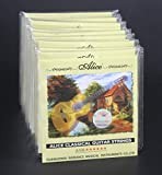 10pcs Alice A106 Clear Nylon Silver Plated 1-st 2-nd 3-rd 4-th 5-th 6-th E B G D A E Single Classical Guitar Strings (10 Sets)