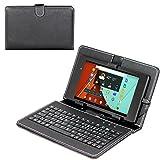 Navitech Acer Iconia Talk S Tablet-PC Stand mit deutschem QWERTZ Keyboard mit Micro USB & Stylus