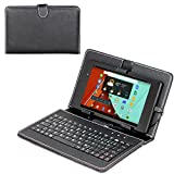Navitech Odys Junior Tab 8 Pro 20,3cm (8 Zoll) Tablet-PC Stand mit deutschem QWERTZ Keyboard mit Micro USB Uns Stylus