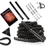 Alementra Sports Premium Battle Rope KIT – Crossfit Training Schwungseil
