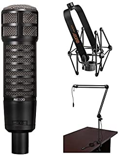 Electro-Voice RE320 Vocal and Instrument Microphone Kit with Shockmount and Broadcast Arm with Integrated XLR Cable