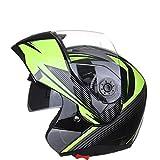 SXC Casco Moto Integral Modular Casco Flip up Helmets Motocicleta de Cara Completa con Visera Cálido y Resistente al Viento Mujer Hombre Adultos, para Four Seasons