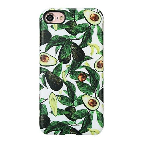 GOLINK Avocado Schutzhülle für iPhone 7 / iPhone 8 / SE 2, Sommer-Serie, schmal, kratzfest, stoßfest, Anti-Fingerabdruck, flexible TPU-Gel-Schutzhülle für iPhone 7 / iPhone 8