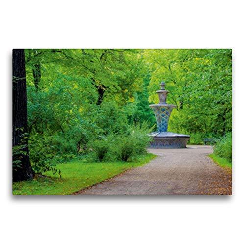 Premium Textil-Leinwand 75 x 50 cm Quer-Format Mosaikbrunnen | Wandbild, HD-Bild auf Keilrahmen, Fertigbild auf hochwertigem Vlies, Leinwanddruck von LianeM