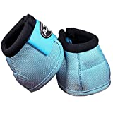 Professionals Choice Equine Ballistic Hoof Overreach Bell Boot, Pair (Large, Turquoise)