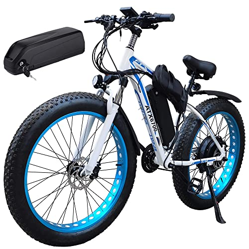 Biciclette elettriche for Adulti E-Bike Mountain Mountain Bike 150 0W 48V. Offroad Fat 26'4.0 Pneumatici E-Bike 48v 18ah. Batteria agli ioni di Litio MTB. Bike di sporcizia, for Uomo da Viaggio for e