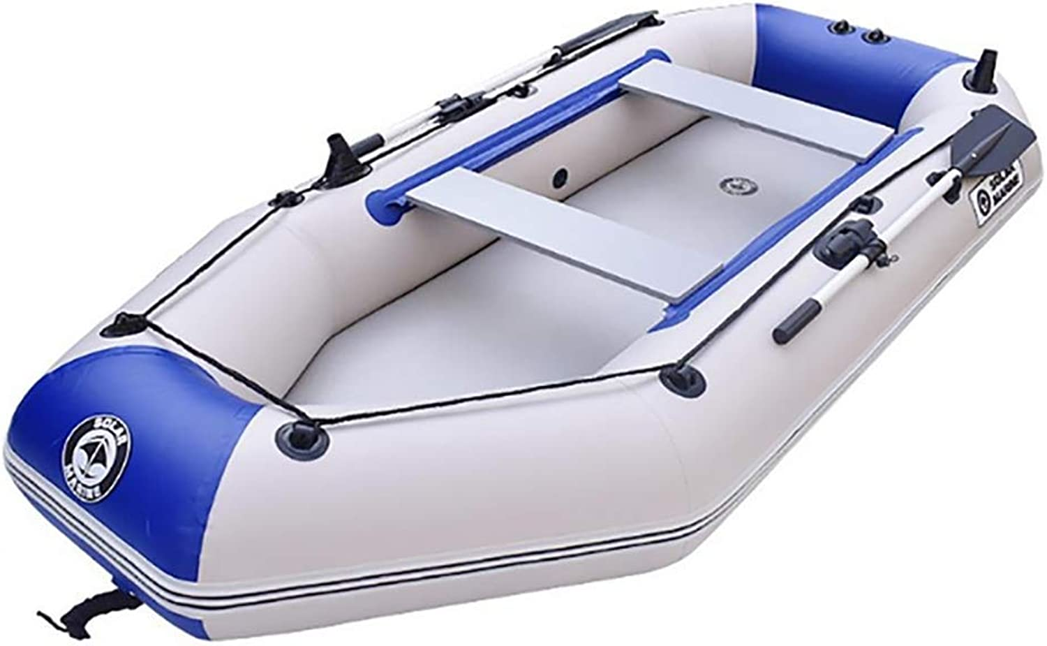 Kayak Fishing Boat, 2Person Inflatable Kayak Set with Aluminum Oars and High Output Air Pump 175 x 102 cm