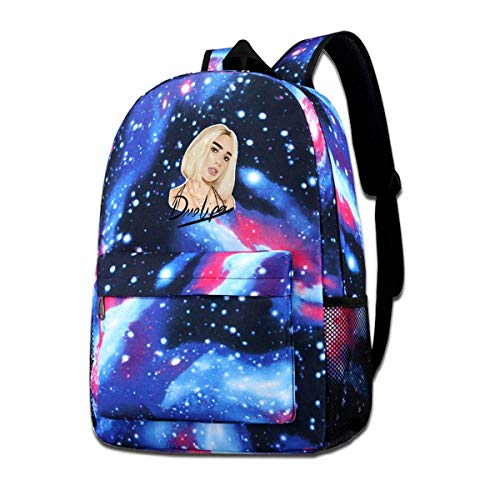Hdadwy Unisex Galaxy Dua New Love Lipa Mochila escolar Mochila para portátil Mochila deportiva de viaje para hombres, mujeres, jóvenes, niños