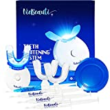 VieBeauti Teeth Whitening Kit - 5X LED Light Tooth Whitener with 35% Carbamide Peroxide, Mouth Trays, Remineralizing Gel...