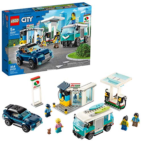 LEGO City Service Station 60257 Pretend Play Toy, Building...