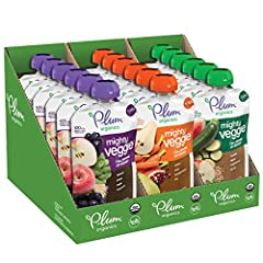 ORGANIC BABY FOOD: Made with non-GMO, and organic fruits and veggies in baby-friendly blends. Plus, they're unsalted, unsweetened, and kosher parve. RESEALABLE POUCHES ARE EASY TO USE: Non-BPA, child-safe, and with a recyclable cap, our pouches can s...