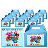 Pocoyo Party Favor Boxes with Thank You Decals Stickers Loots Blue Ely Birthday 12 Pieces Great Seller