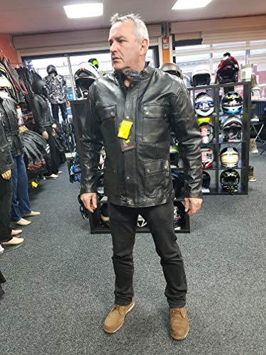 Black Tab Hesse Motorradjacke, Rindsleder, mit CE-Protektoren