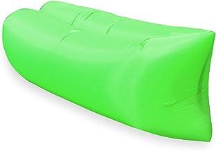 NICEDINING Utomhus camping uppblåsbar soffa bärbar ultralätt strand sovsäck luftbädd uppblåsbar stol vilstol lat väska str...