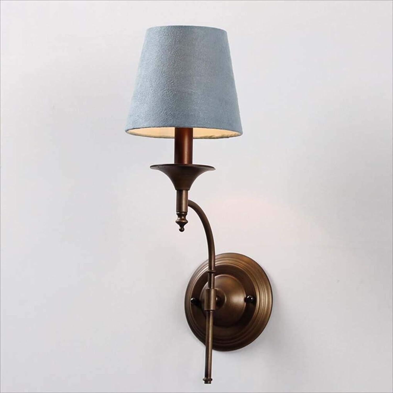 XRFHZT Retro Mediterranean EIN-Kopf Wandlampe Schlafzimmer Nachtseitige Lampe Flur Indoor-Beleuchtung,Grün