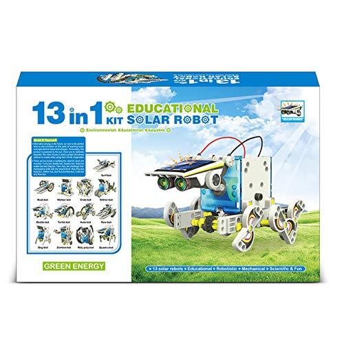 YEARGER Robot a Energia Solare 13 in 1 Giocattolo STEM Toys, Giocattoli Educativi Robot per Bambini dagli 8 ai 12 Anni