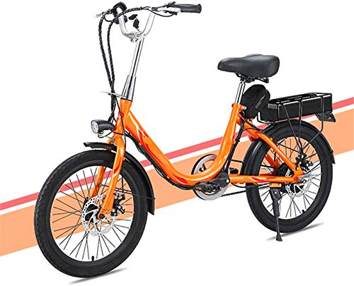 Bicicletas Eléctricas, Señora adulta bicicleta eléctrica, 20 pulgadas Mini bicicleta eléctrica 7...