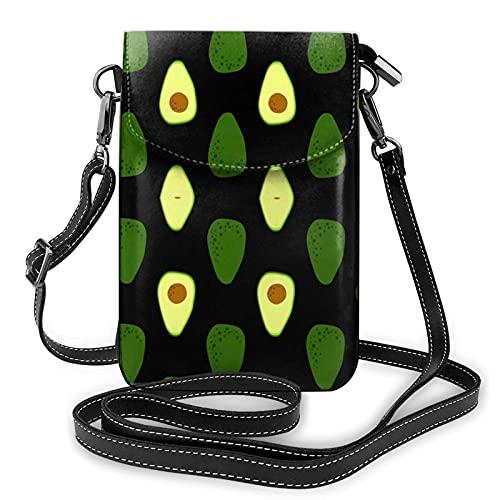 Aguacate verde, bolso impermeable del teléfono, monederos y bolsos ligeros con 2 correas para el hombro para las mujeres
