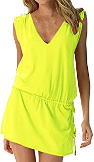 91cfca5446 SERYU Cover Up Beach Dress Womens Swim Beach Dress Deep V Neck Open-Back  Beach