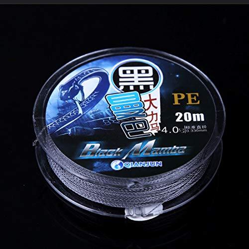 SDHF 4 Línea Cometa Línea 4.0c Acciones Trenza de Fibra PE Pesca 0.331mm 5.73kg nódulos tensión 7.01kg Recto tubería de tensión 20m (Gris) (Color : Grey)