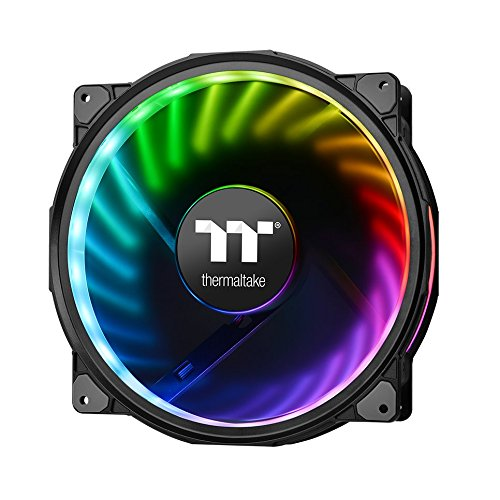Thermaltake Riing Plus 20 RGB TT Premium Edition Without Controller 200mm Software Enabled RGB Single Pack Riing Case/Radiator Fan CL-F070-PL20SW-A