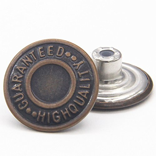 20mm Replacement Jean Buttons 12 Sets Combo Copper Tack Buttons