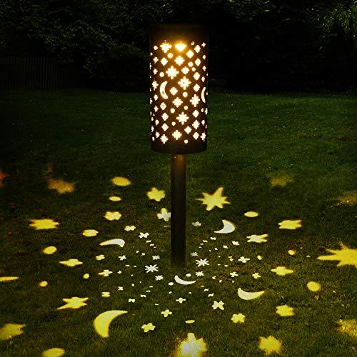Lampada Solare Giardino Esterno Golwof 1 Pezzi Luce Solare Giardino LED Impermeabile Luci Solari Esterno Giardino Decorative Illuminazione Solare per Cortile Terrazzo Villa Vialetti Vacanza Natale