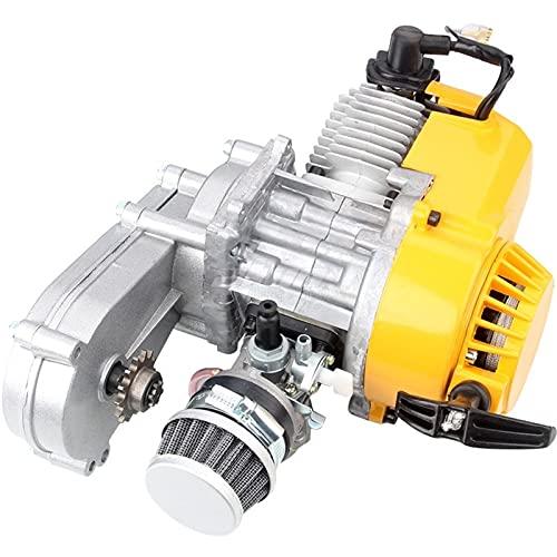Motorycle Motor Modificado de Dos Tiempos Versión modificada 49CC Un Solo Cilindro refrigerado por Aire para Mini Bolsillo de Suciedad Bicicleta ATV ATV Quad 4 Rueda (Color : A)