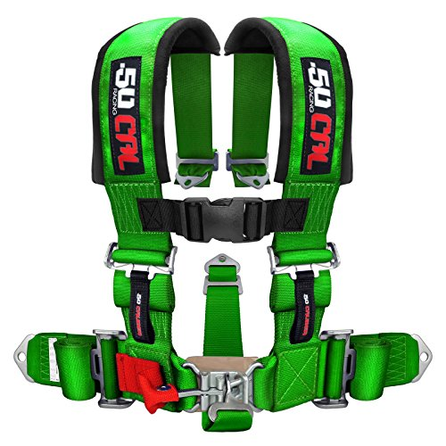 3' 5 Point Racing Harness - GREEN - For Offroad Vehicles, UTV, SXS, Sand Rails, Dune Buggies, and More! [6001-A1]