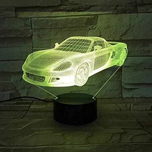 Inicio 7 Color Visual Racing Sports Car Modeling Luces 3D Led Night Light Regalo para niños Interruptor táctil USB Night Light Iluminación para dormir