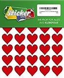 70 Klebeherzen, 30 mm, rot, aus PVC Folie, wetterfest, Herz Sticker Aufkleber