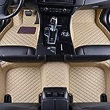 QOHFLD Alfombrillas Coche Personalizadas 3D Protección Alfombras Antideslizante de Cuero Alfombrillas Cobertura Total Accesorios Coche Siete Seta para Audi Q7 2006-2015