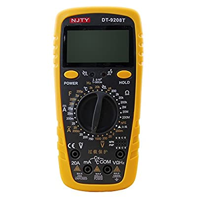 Digital Multimeter Counts Auto Ranging Digital Multimeters Digital Multi Tester-DC Current Resistance Diodes Transistor Audible Continuity Tester with Backlit LCD