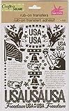 Crafter's Square Rubbelfolie Transfers für Papierbastelarbeiten, Kartenherstellung, DIY-Projekte – USA Freedom American Patriotisches Thema