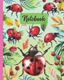 Notebook: Ladybug , Ladybird Beetle - Insect Animals Diary / Notes / Track / Log / Journal , Book Gifts For Women Men Kids Teens Girls Boys Friends 8x10' 110 Pages