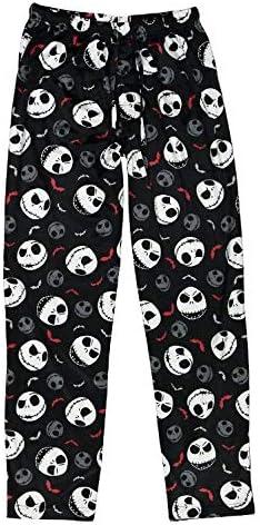 Briefly Stated Disney Tim Burton's The Nightmare Before Christmas Jack Bats Pajama Pants Large